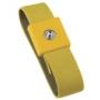 Bracelet anti-allergique jaune, pression de 4 mm