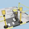 Tourniquet tripode pour contrôle d'entrée de zone ESD
